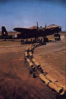 Airplane Picture - Short Stirling of 26 Conversion Flight (CF) Squadron c.1941 operating out of RAF Waterbeach