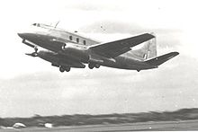 Airplane Picture - Type 663 Tay Viscount demonstrating at Farnborough in September 1950