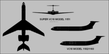 Airplane Picture - VC10 Silhouette Drawing