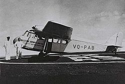 Airplane Picture - Scion II, VQ-PAB, at the service of Palestine Airways Ltd in 1938
