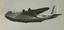 Airplane Picture - Qantas Short C Class Empire flying boat VH-ABB 'Coolangatta', ca. 1940