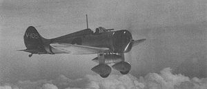 Airplane Picture - An A5M from the aircraft carrier Akagi in flight in 1938 or 1939.