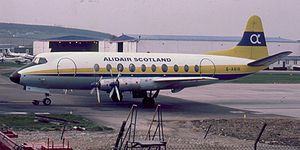 Warbird Picture - A Vickers Viscount 700 at Aberdeen Airport, Scotland