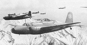 Warbird Picture - Mitsubishi Ki-21's of the Hamamatsu Bomber School