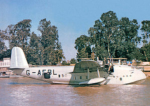 Warbird Picture - The BOAC Short 'C' Class flying boat G-AFBL Cooee, at Rod El Faray, Egypt, c. 1942