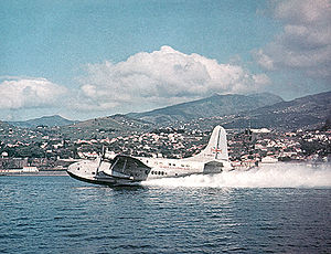 Warbird Picture - The Aquila Airways Solent 3, G-AKNU, Sydney taking-off from Funchal