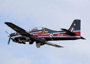 Warbird Picture - RAF Short Tucano T1, in display colours for 2008