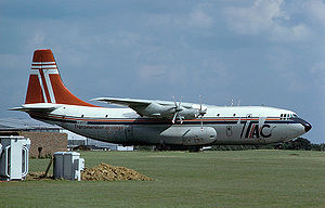 Warbird Picture - Short Belfast of Transmeridian Air Cargo at Stansted in 1979