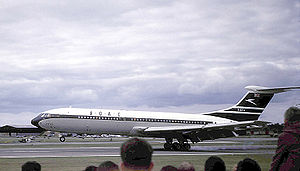 Warbird Picture - The Vickers VC10 prototype G-ARTA first flew from Brooklands in 1962 in BOAC colours