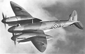 Warbird Picture - A view of the sole prototype (note the 'P' on the fuselage) of the Vickers Type 432 in the air.