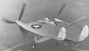 Warbird Picture - The sole Vought V-173 in test flight USAF photo