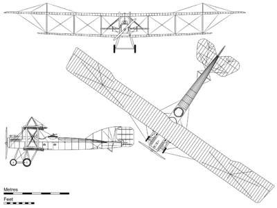 Airplane Picture - 3-view projection of the Short Bomber.