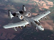Airplane Picture - A-10 Thunderbolt II ground attack aircraft.