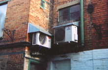 Airplane Picture - A picture of a Mitsubishi and LG Electronics Air conditioning unit at a Banbury shopping mall in the year 2010.