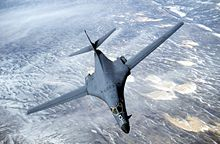 Airplane Picture - B-1 Lancer supersonic strategic bomber.
