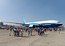 Airplane Picture - The record-breaking 777-200LR Worldliner, presented at the Paris Air Show 2005.