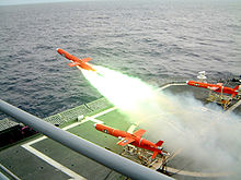 Airplane Picture - A BQM-74 Chukar unmanned aerial drone launches from a US Navy vessel.