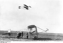Airplane Picture - Farman III plane in flight, Berlin 1910