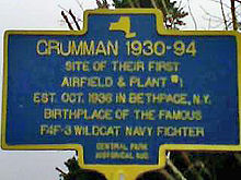 Airplane Picture - Grumman Historical Marker