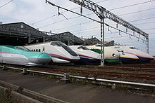 Airplane Picture - Lineup of JR East Shinkansen trains, October 2009