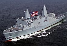 Airplane Picture - USS San Antonio (LPD-17), a San Antonio class amphibious transport dock
