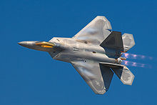 Airplane Picture - F-22 Raptor stealth air superiority fighter.