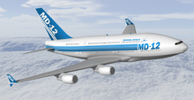Airplane Picture - McDonnell Douglas MD-12 aircraft concept