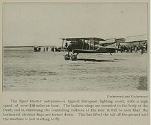 Airplane Picture - A SPAD plane taking off