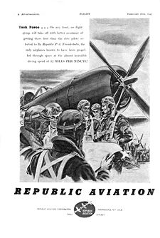 Airplane Picture - A 1943 advertisement for REPUBLIC AVIATION from Flight & Aircraft Engineer magazine