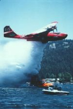 Airplane Picture - Civilian Catalina, modified for firefighting