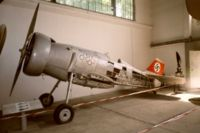 Airplane Picture - Udet's Curtiss Hawk II (D-IRIK) on display in the Polish Aviation Museum.