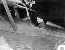 Airplane Picture - Albert Ball in the cockpit of his S.E.5