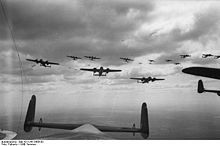 Airplane Picture - A typical Luftwaffe bomber formation; Dorniers using a