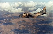 Airplane Picture - A 19th ACS C-123K over the Mekong Delta, 1969.
