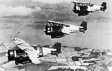 Airplane Picture - Three BF2C-1s of VB-5 from the USS Ranger (CV-4) in 1934.