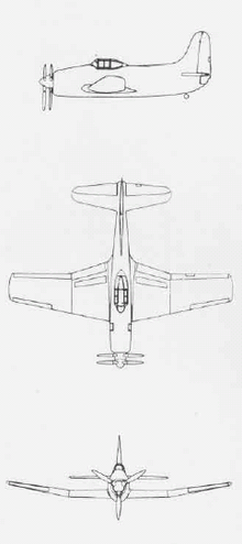 Airplane Picture - 3-side view of the XBTC-2.