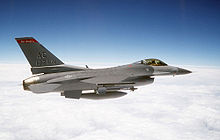 Airplane Picture - An General Dynamics F-16 Fighting Falcon, a US military fixed-wing aircraft