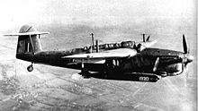 Airplane Picture - A Barracuda Mk II carrying an 18-inch (46 cm) aerial torpedo. The ASV radar