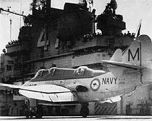 Airplane Picture - An Australian Gannet AS 1 on the USS Philippine Sea in 1958.