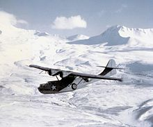 Airplane Picture - A PBY-5A of VP-61 over the Aleutian Islands in 1943.