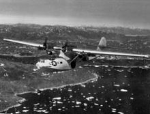 Airplane Picture - A radar-equipped PBY-5A from VP-6(CG) over Greenland, in 1945.