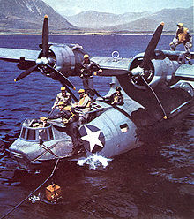 Airplane Picture - PBY riding at sea anchor.
