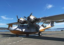 Airplane Picture - Civilian PBY Catalina, modified for aerial firefighting, arrives at the Seaplane Base, NAS Whidbey Island, Oak Harbor, Washington, 18 September 2009