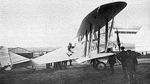 Airplane Picture - Preparations for the altitude record flight on 14 May 1914