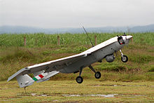 Airplane Picture - The Mexican unmanned aerial vehicle S4 Eh�catl at take-off
