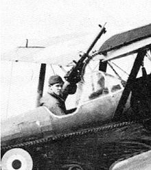 Airplane Picture - Albert Ball seated in an esrly S.E.5 with original windscreen and high seating position - compare with picture opposite