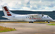 Airplane Picture - A ScotAirways Dornier 328-110 at Dundee Airport, Scotland