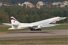 Airplane Picture - The Tupolev Tu-160, a supersonic, variable-geometry heavy bomber