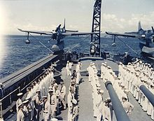 Airplane Picture - Two SO3C-3s aboard USS Biloxi, October 1943.