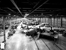 Airplane Picture - B-24s under construction at Ford Motor's Willow Run plant